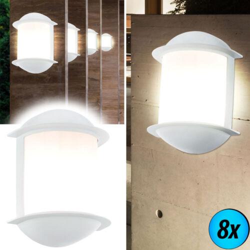 LED Haus Wand Lampe Garagen Beleuchtung Veranda Leuchten weiß Außen Energie Spar