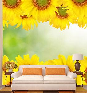 3D-Sonnenblume-Fototapeten-Wandbild-Fototapete-Bild-Tapete-Familie-Kinder
