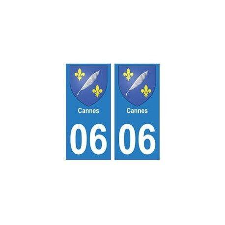 06 Cannes blason autocollant plaque stickers ville arrondis