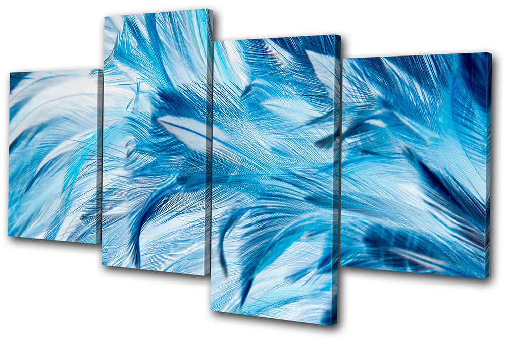 Abstract Feathers Wildlife MULTI Leinwand Wand Kunst Bild drucken