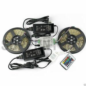 6in1-RGB-10M-5050-600-LED-Strip-Light-Waterproof-Amplifier-Power-24Keys-Remote