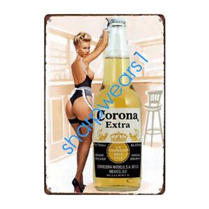 Metal-Tin-Sign-corona-beer-Pub-Bar-Home-Vintage-Retro-Poster-Cafe-ART