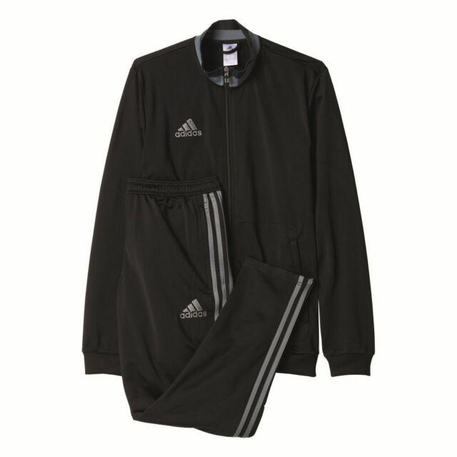 best place finest selection best quality Adidas Fußball Condivo 16 Polyesteranzug Herren Trainingsanzug schwarz grau