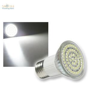 E27-LED-Strahler-Leuchtmittel-60x-POWER-SMD-LEDs-WEISS-E-27-Lampe-Birne-Spot