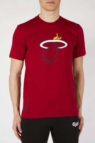 TAILLE M//L//XL Adidas NBA Miami Heat T-SHIRT Shirt Rouge s29937 NOUVEAU /& NEUF dans sa boîte