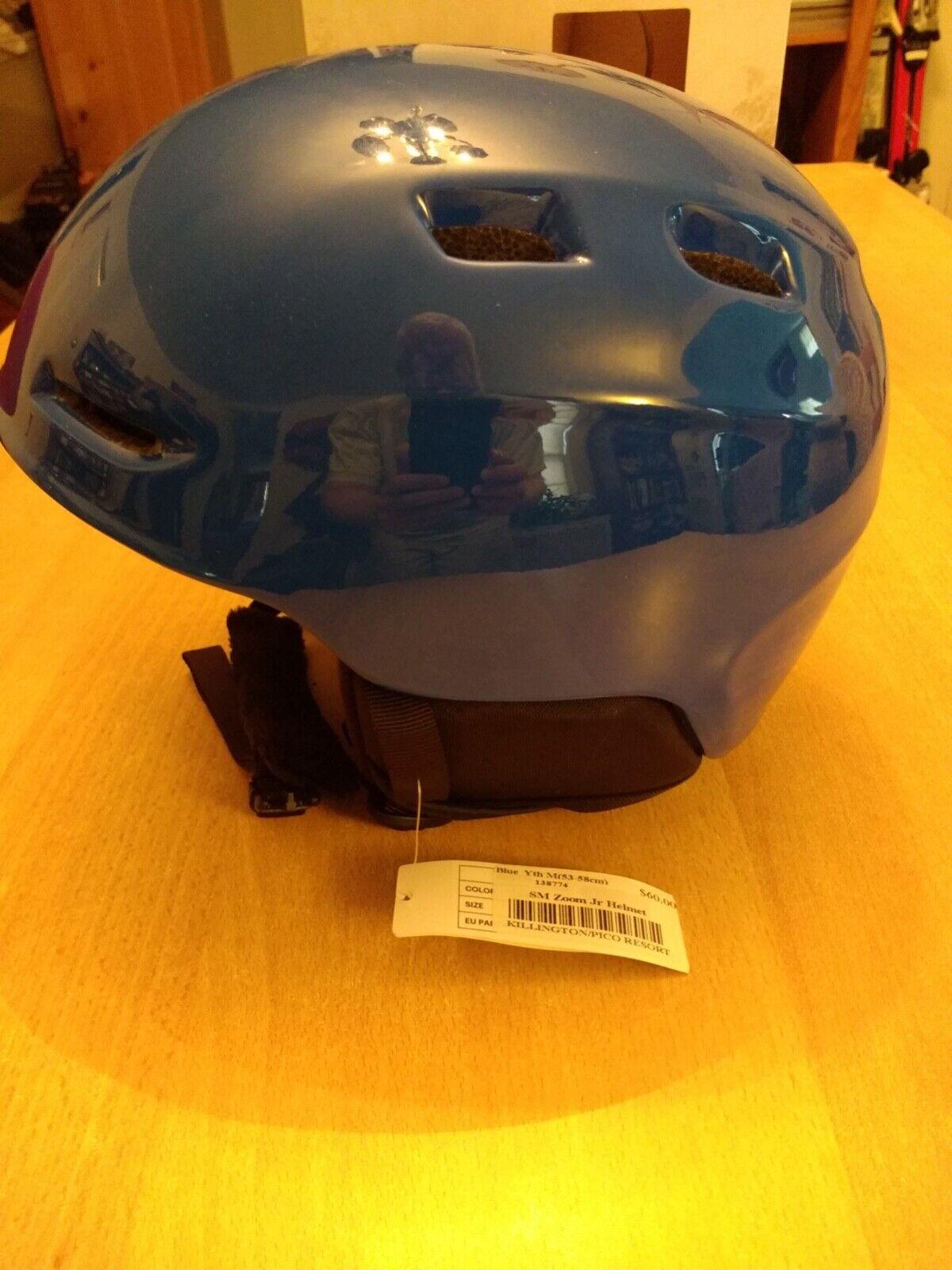 Smith Zoom Jr. Ski  Snowboard Helmet (bluee Medium 53-58 cm) New  timeless classic