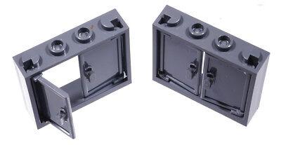 1x Lego Fenster weiss Gitter neu-dunkel grau 1x4x3 Burg Polizei 62113 60594