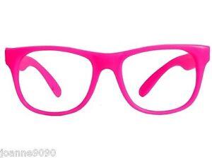 Neon-Brillante-Rosa-Marco-Gafas-Hippy-Anos-60-70-80-Accesorio-para-disfraz