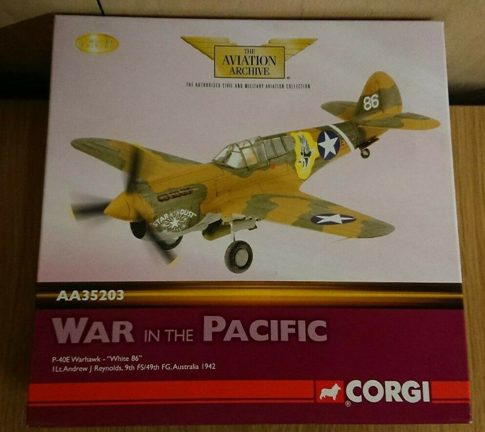Corgi AA35203 P-40E Warhawk  biancao 86  AJ Reynolds Ltd Edición No. 0001 de 2200