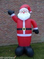 Large Inflatable Father Christmas Santa Decoration 240cm Tall 8 LEDs Outdoor