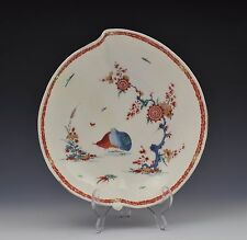 18thC Bow Porcelain Leaf Dish Two Quail Pattern c.1755