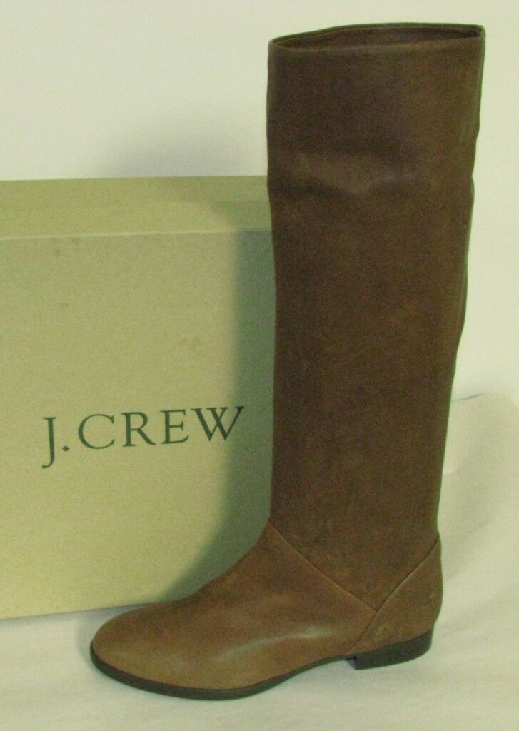 J Crew Sutton Leather braunstone Stiefel  298 Größe 5.5 NEW