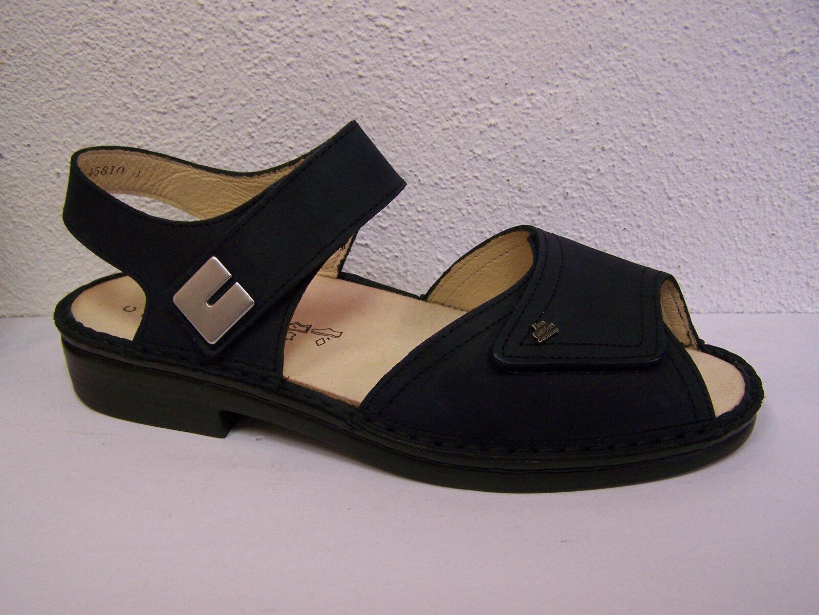 Finn Comfort luxor en nobuck azul párrafo plana con cambio plantilla & bolsa de zapatos
