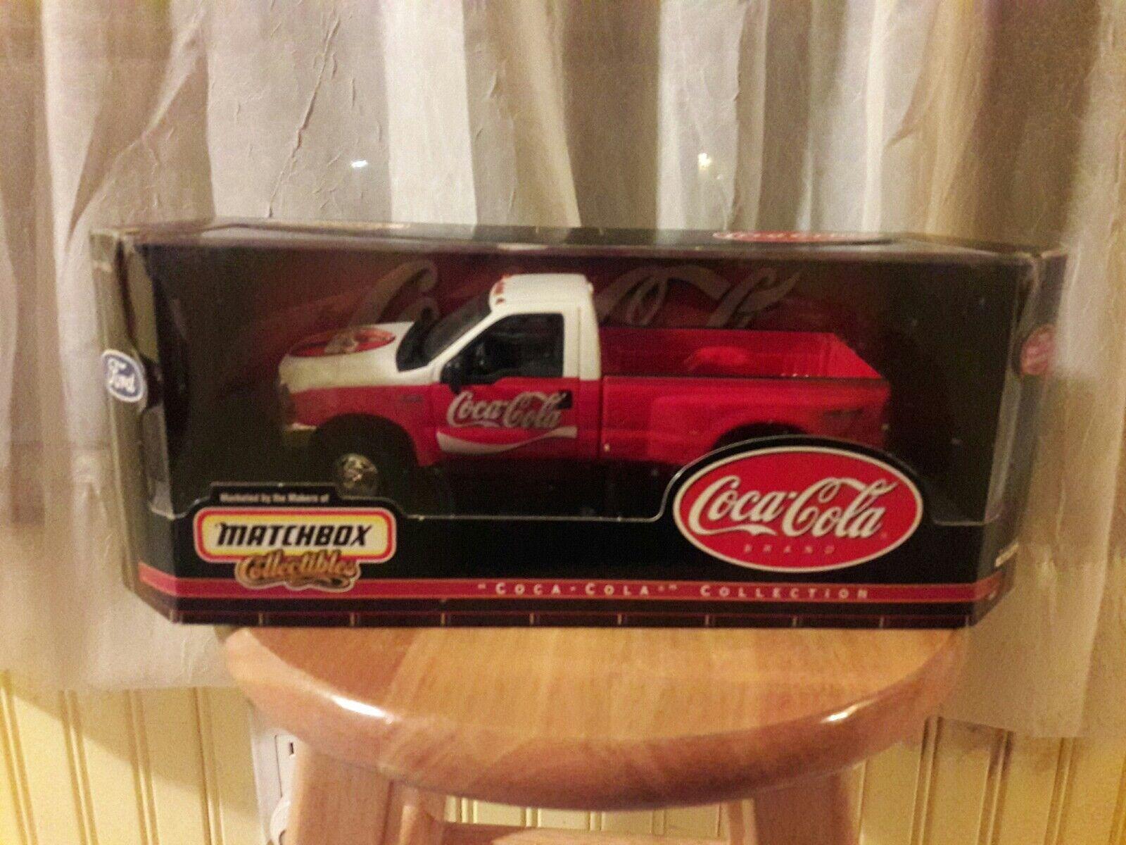 24 coca - cola 1999 ford f-350 super duty matchbox collectibles nib