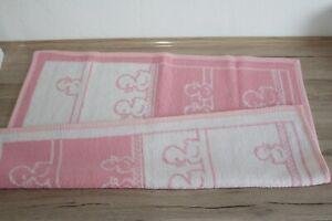 Vintage Babydecke, Kinderwagendecke, Krabbeldecke - rosa mit Enten [29]