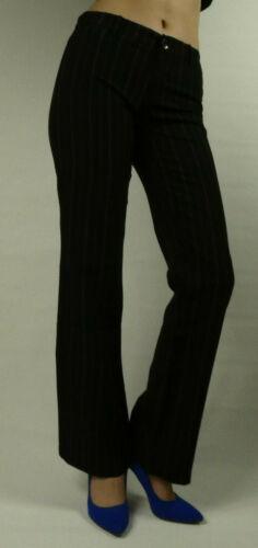 Femmes Business Bureau Pantalon Coupe Droite Jambe Elegant Classic coupe droite Rayures