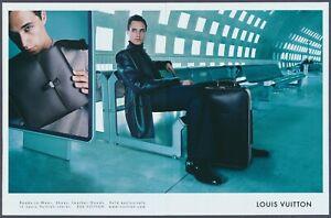 Louis Vuitton Leather Goods Shoes Luggage Vintage Magazine Ad 2001