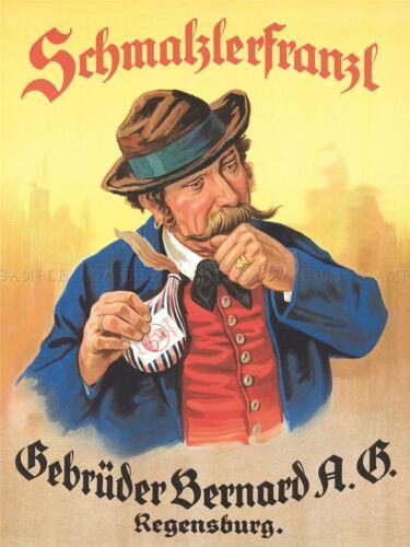 ADVERTISEMENT GERMAN MOUSTACHE SCHMALZLERFRANZL SNUFF ART POSTER PRINT LV379