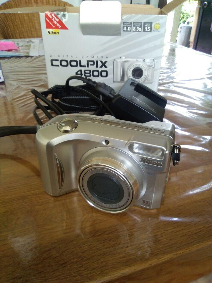 Nikon Nikon coolpix 4800, 4,0 megapixels, 8,3 x optisk zoom