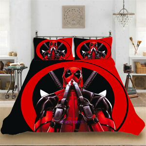 Deadpool-Single-Double-Queen-King-Bed-Doona-Quilt-Duvet-Cover-Set-Pillowcase