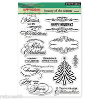 New Penny Black BEAUTY OF THE SEASON Clear Stamps Christmas Holidays Verse Joy