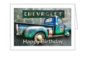 Image Is Loading A GREAT RETRO TRUCK HAPPY BIRTHDAY CARD