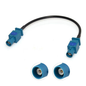 Universal-Vehicle-Car-Antenna-Adapter-Cable-Fakra-Z-Male-to-Male-RF-Pigtail-12-034