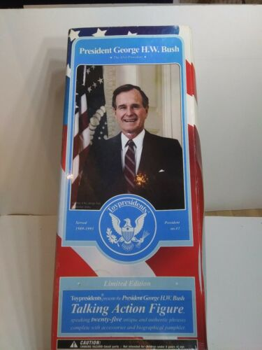 H George W .Bush Talking Action Figure Doll TOYPRESIDENTS Limited Edition