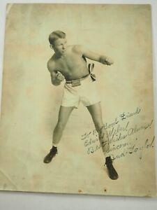 "Charles Bernard ""Bud"" Taylor Professional Boxer Photo Autographed Dedication"