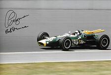 12x8 Jim Clark, Lotus-Ford 38/1, Indy 500 firmado por Clive Chapman & Bob Dance