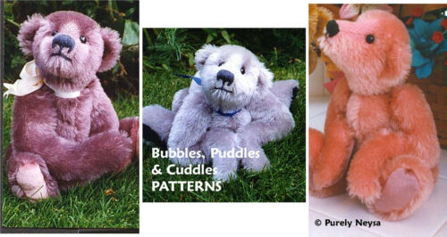 Mohair Bubbles, Cuddles, Puddles  3 Teddy Bear PATTERNS by Neysa A. Phillippi