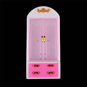 Princess-Bedroom-Furniture-Closet-Wardrobe-For-Dolls-Toys-Girl-Gift-yb