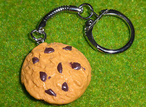 UNIQUE-Handmade-CHOCOLATE-CHIP-COOKIE-KEYRING-novelty-BISCUIT-bakery-MARYLAND