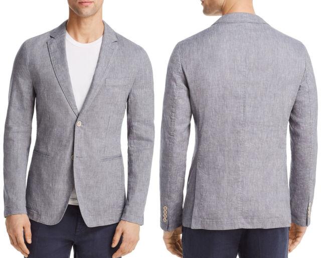 NWT $545 Hugo Boss Black Label Slim Fit Lightweight Stretch Linen Blend Blazer