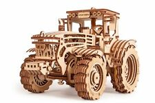 Wood Trick Tractor Toy Model Mechanical Wooden 3D Puzzle Self Assembly DIY Kit