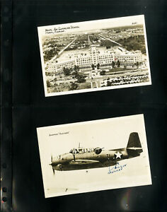 US-Two-1945-Black-And-White-WWII-Era-Postcards-VF