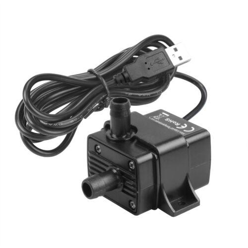 USB Anschluss Mini Tauchpumpe für Aquarium Fisch Brunnen USB DC 5 V 2,3 W