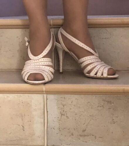 £550 Dior Christian 6 Rrp 5 Heigh Uk Eu Sandals Beige Heel Sz Leather Shoes 39 Awwdq6Br