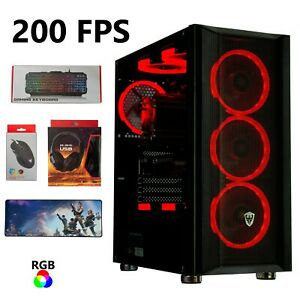 Gaming Pc Desktop Computer [UPGRADED] SSD+HDD, 32GB RAM, Wi-Fi, Streaming PC