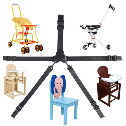Baby Kids 5 Point Safety Chair Harness Belt Strap High Chair Feeding Car Seat UK