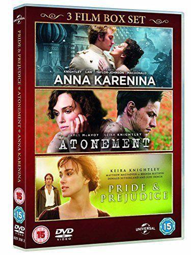 Anna Karenina / Pride & Prejudice / Atonement (Triple Pack) [DVD] (New &