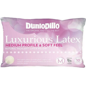 Dunlopillo-Talalay-Latex-Luxurious-Medium-Profile-amp-Soft-Feel-Pillow-RRP-139-95