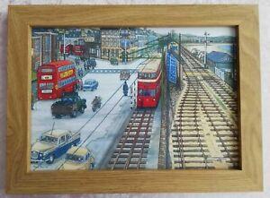 Mumbles Railway passing St Helens Swansea - Watercolour Painting - Tony Paultyn