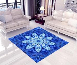 3D Azul Pétalo suelo de impresión de parojo de papel pintado mural 6 5D AJ Wallpaper Reino Unido Limón