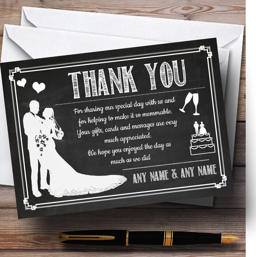 El borrador para pizarrón blancoo Personalizado Boda Tarjetas De Agradecimiento