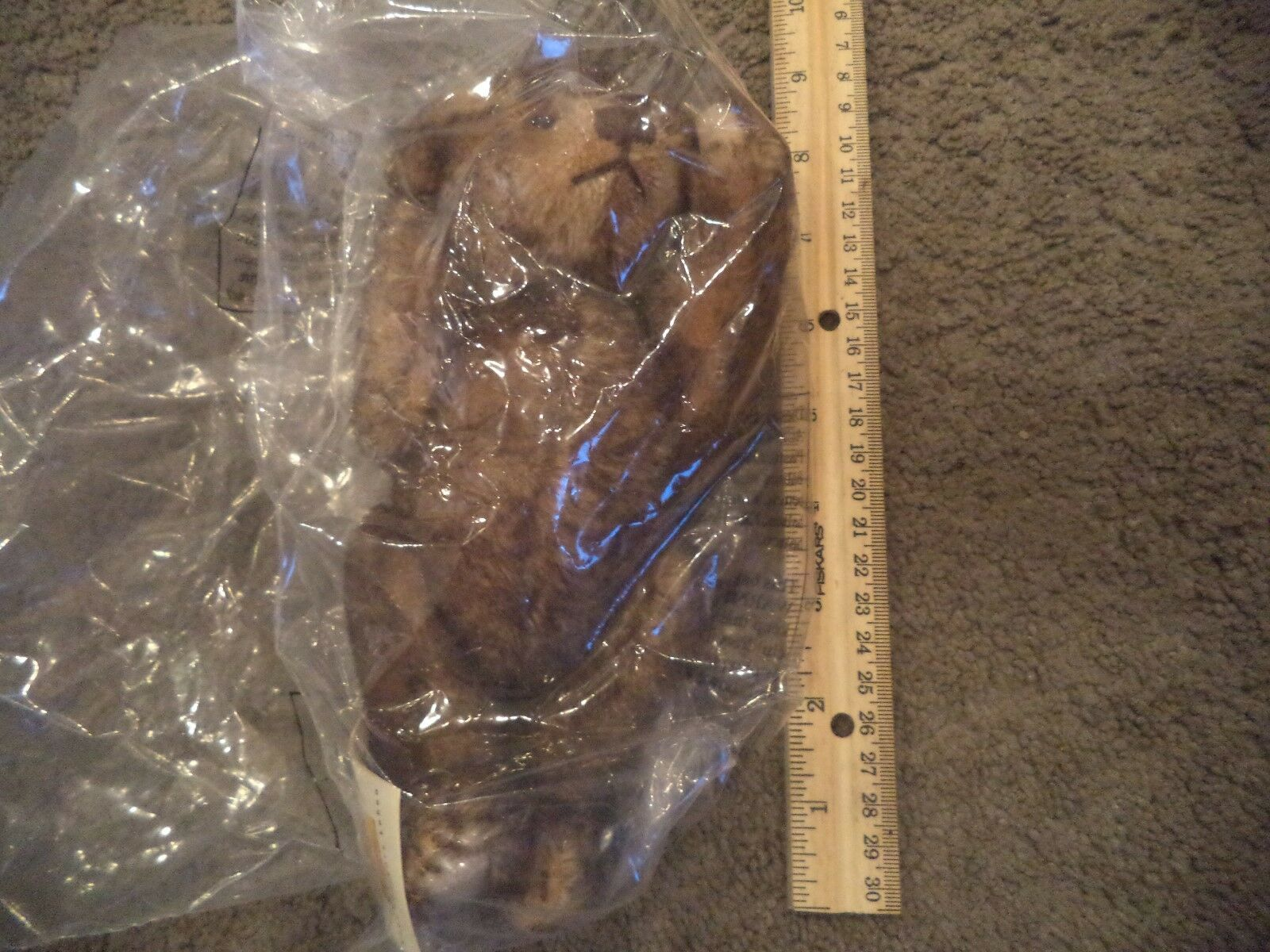 STEIFF TEDDY BEAR  666766 MOHAIR AND JOINTED HANG TAG NEW IN BAG