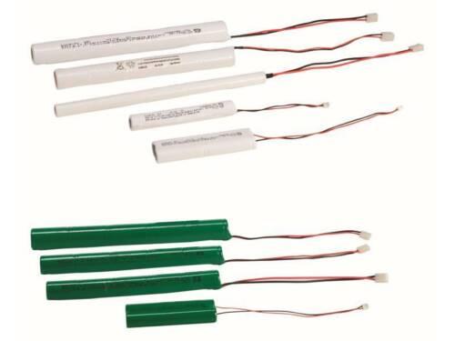 Batteria ricambio LINERGY 6V 0,6 AH B057 emergenza diam cm 1,4 lunghezza 24 cm