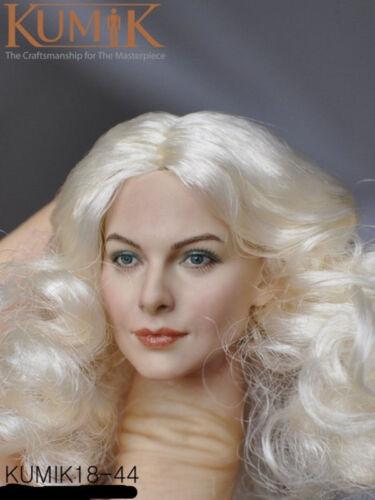 "KUMIK 1//6 White Curls Female Painted Head Sculpt KM-18-44 F 12/"" CG CY Figure"
