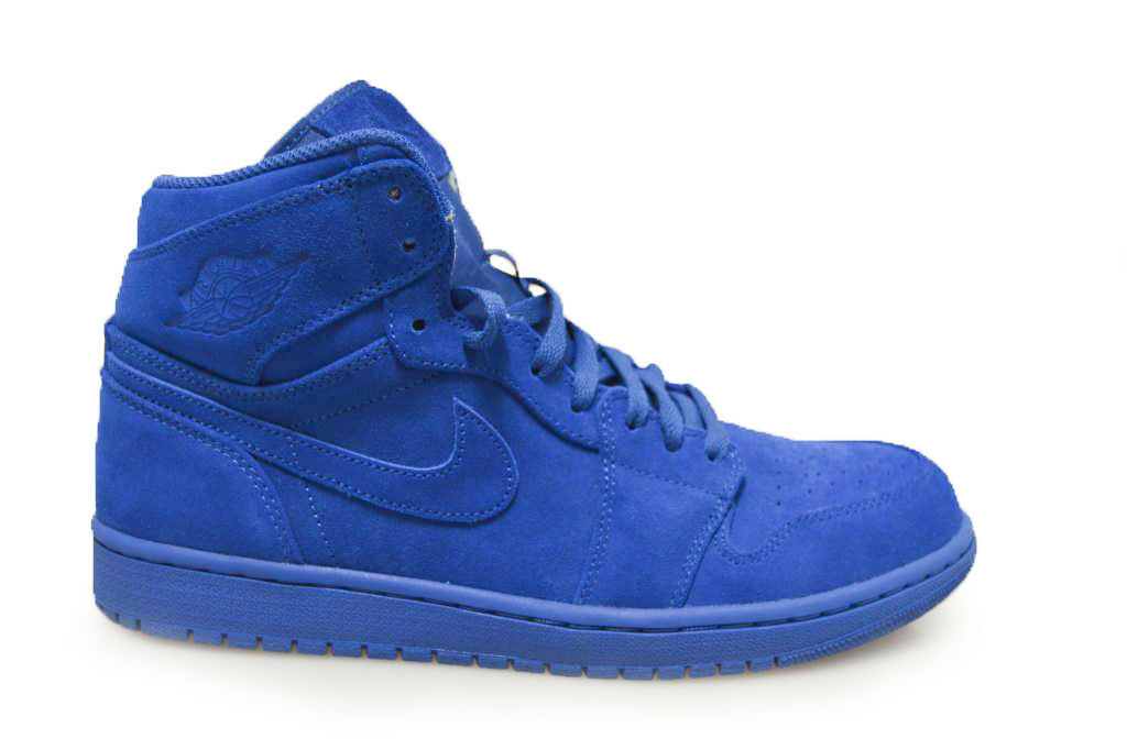 Hombre Air Jordan 1 Retro High - 332550404 - Triple Triple - Azul Trainers a339b5