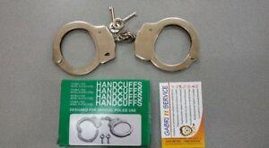 MANETTE-POLIZIA-DI-STATO-ACCIAIO-241-gr-HANDCUFFES-LOCK-POLICE-CARABINIERI-pz1
